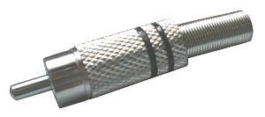 Konektor CINCH kabel kov nikl černý