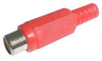 Zdířka CINCH kabel plast červená