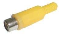 Zdířka CINCH kabel plast žlutá