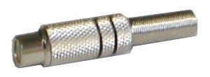 Zdířka CINCH kabel kov nikl červená