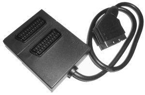 Redukce Scart konektor / 2 x Scart zdířka 21PIN