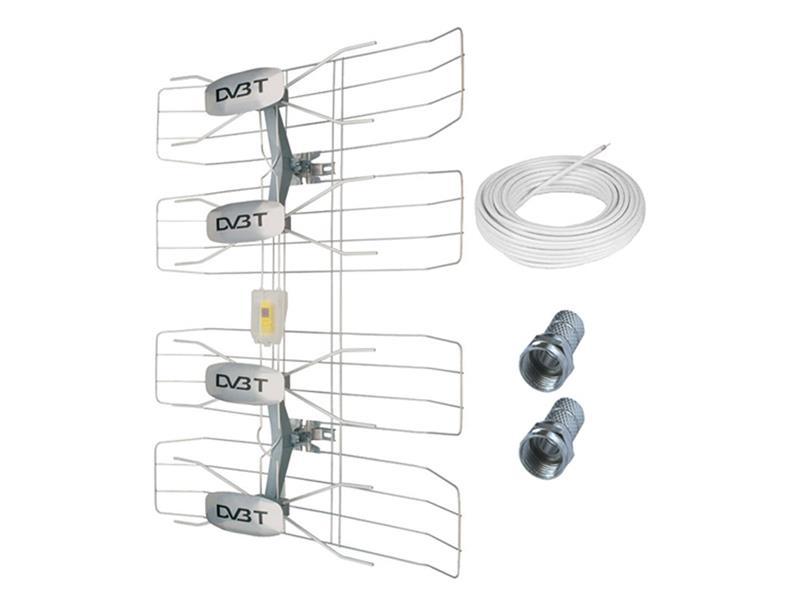 Anténa venkovní DVB-T HN50, 42-47dB, VHF/UHF, 6. - 69. kanál SOLIGHT