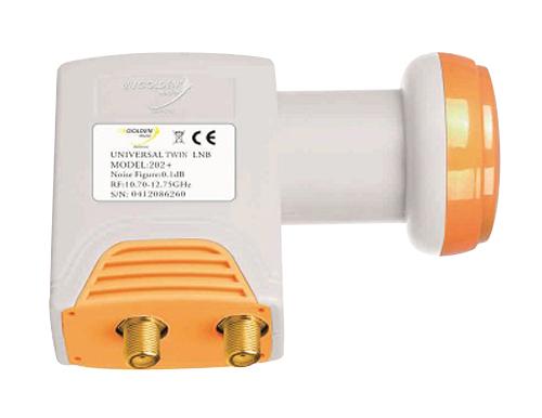 Satelitní konvertor Golden Media GI202+ 0.1dB twin