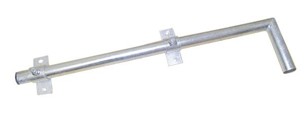 Anténní držák 90 na balkon-na zeď průměr 42mm výška 16cm žár.