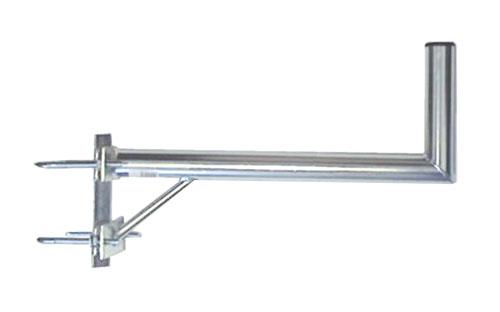 Anténní držák 50 na stožár s vinklem a dvěma třmeny průměr 42mm výška 16cm