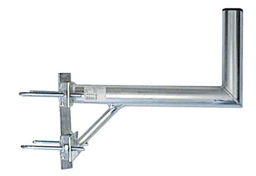 Anténní držák 35 na stožár s vinklem a dvěma třmeny průměr 42mm
