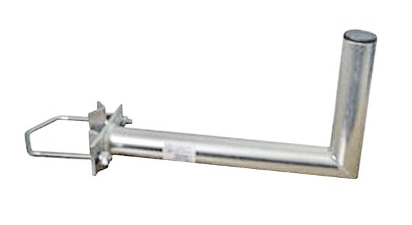 Anténní držák 50 na stožár s vinklem rozteč třmenu 150mm průměr 42mm výška 16cm
