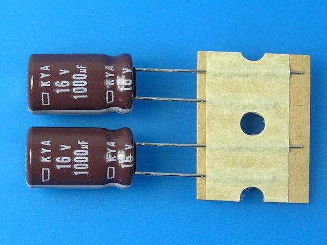 1000uF/16V - 105°C Nippon KYA kondenzátor elektrolytický, low ESR, long life