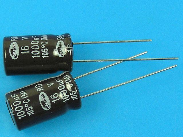 1000uF/16V - 105°C Samwha RD kondenzátor elektrolytický