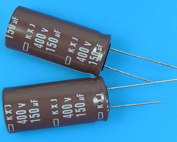 150uF/400V - 105°C Nippon KXJ kondenzátor elektrolytický low ESR, long life, high ripple current