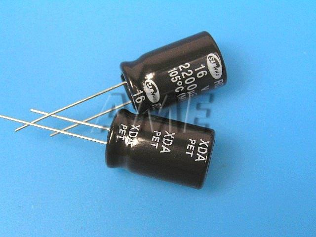2200uF/16V - 105°C Samwha RD kondenzátor elektrolytický