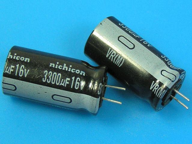 3300uF/16V - 85°C Nichicon VR kondenzátor elektrolytický