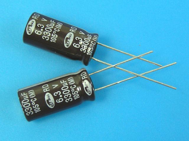 3300uF/6,3V - 105°C Samwha RD kondenzátor elektrolytický