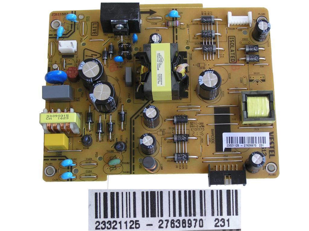 LCD modul zdroj 17IPS12 / Vestel 23321125 / Mains power board 23321125