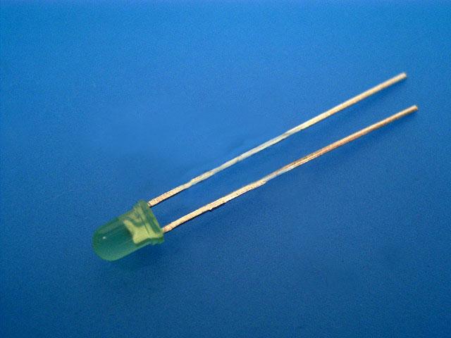 LED dioda zelená 3mm, kulatá
