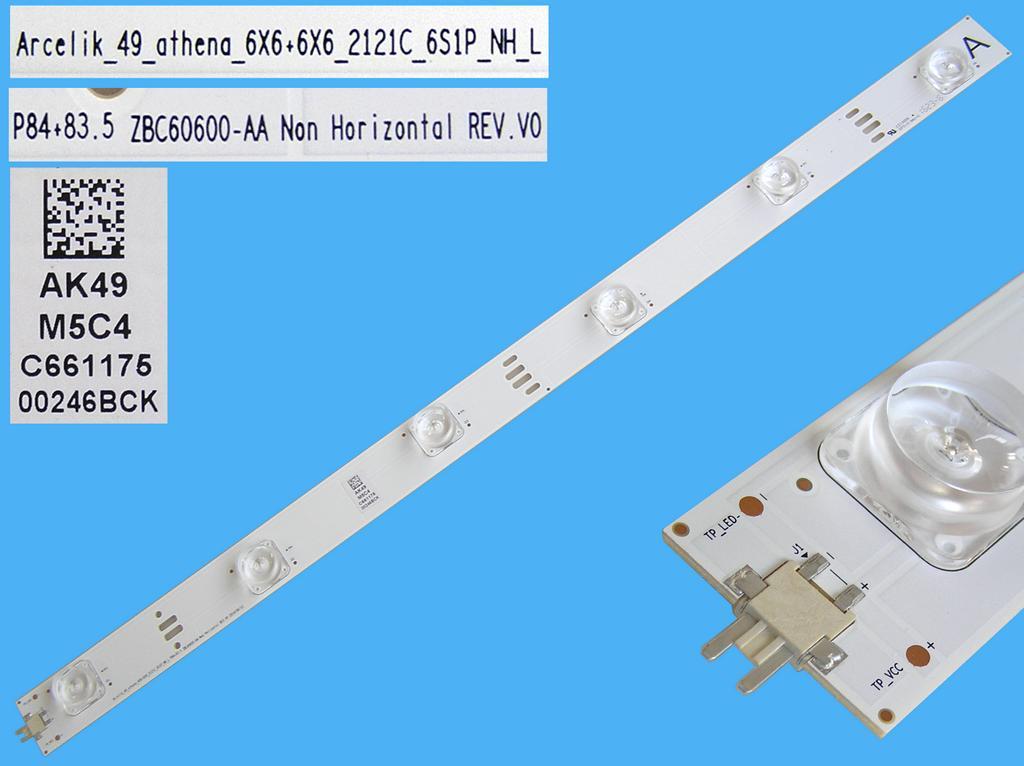 LED podsvit 468mm, 6LED / DLED Backlight 468mm - 6 D-LED, Grundig 759551877300 / ZBC60600-AA /