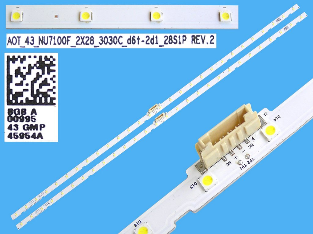 LED podsvit EDGE 438mm / LED Backlight edge 438mm - 54LED H04/2.9-3.0/22-24 / C195X14-E1-A