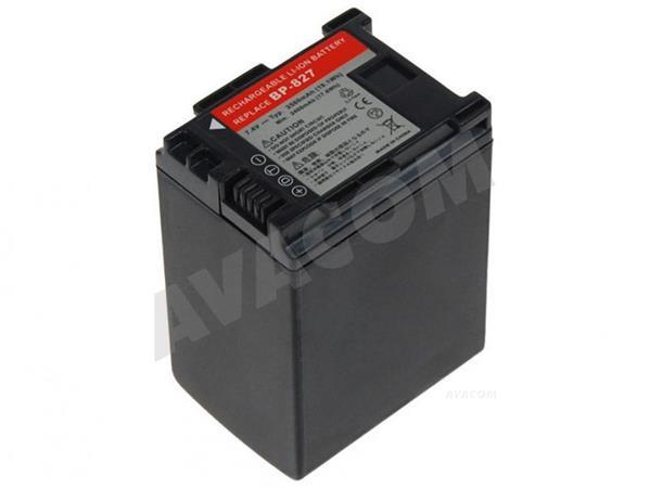 Náhradní baterie AVACOM Canon BP-807, BP-809, BP-819, BP-827 Li-Ion 7.4V 2580mAh 19.1Wh verze 2011