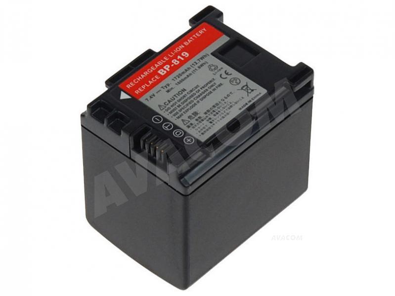 Náhradní baterie AVACOM Canon BP-809, BP-819 Li-Ion 7.4V 1720mAh 13.2Wh verze 2011