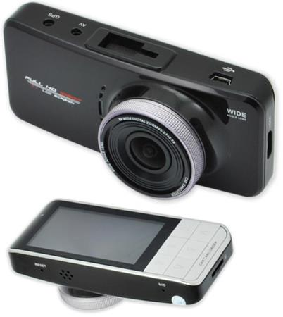 "CEL-TEC E08s GPS - palubní kamera do auta 1080p, microSD/SDHC, WDR, 2.7"" LCD, černá"