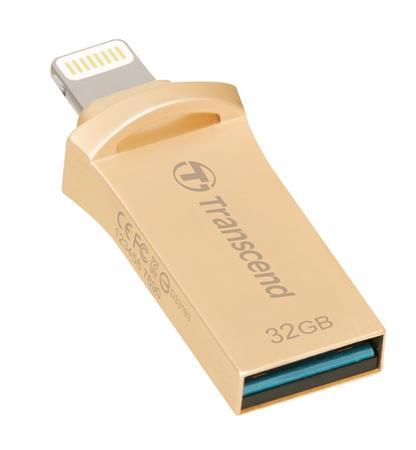 Transcend 32GB JetDrive Go 500, Lightning/USB 3.1, zlatý