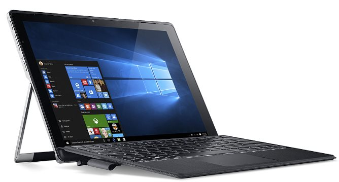 """Switch Alpha 12 SA5-271-55QF i5-6200U/8GB/12""""IPS 2160x1440 /256GB SSD/ docking s klavesnici/ W10 Home Siver"""