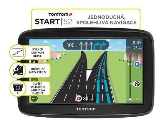 "TOMTOM START 52 Europe LIFETIME mapy, 5"" displej"