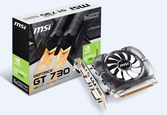 MSI N730-4GD3V2, 4GB DDR3, 128bit, DVI-D, HDMI, D-SUB