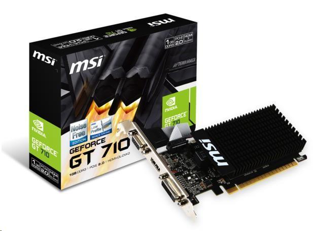 MSI GT 710 1GD3H LP, 1GB GDDR3, DVI, VGA, HDMI