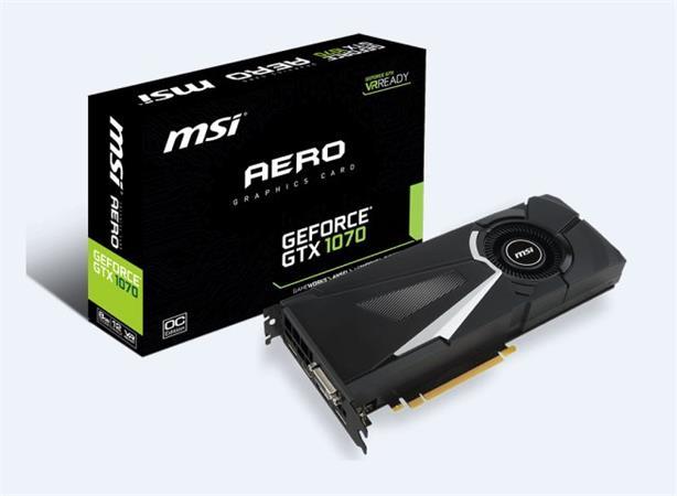MSI GTX 1070 AERO 8G OC, 8GB GDDR5, 256bit, DVI-D, HDMI, 3xDP