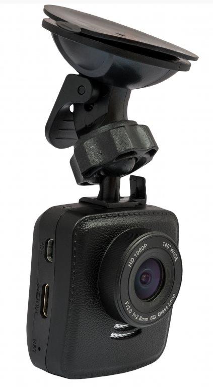 "CEL-TEC E09w GPS - palubní kamera do auta 1080p, microSDXC, WDR, WiFi, 2"" LCD, černá"