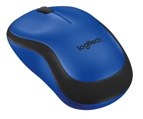 Logitech myš M220 Silent, optická, bezdrátová, 3 tlačítka, 1000dpi - modrá