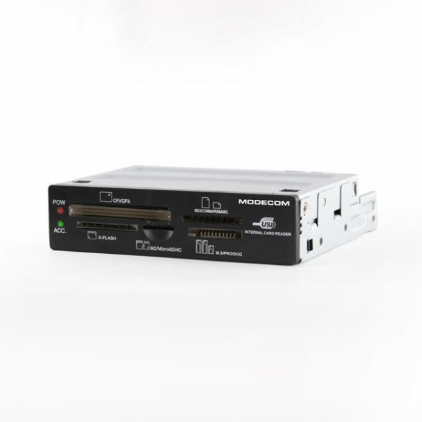 Modecom CR-107 interní čtečka paměťových karet All In One, černá, CFI, CFII, SD, SDHC, Extreme CF, xD, Microdrive