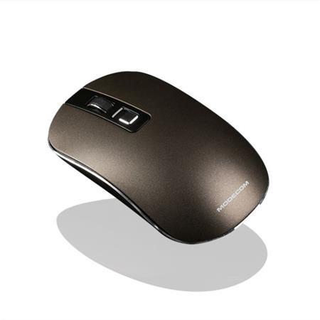 Modecom MC-WM101 bezdrátová optická myš, 3 tlačítka, 1600 DPI, USB nano 2,4 GHz, nízký profil, hnědá