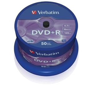 VERBATIM DVD+R(50-Pack)Spindle/General Retail/16x/4.7GB
