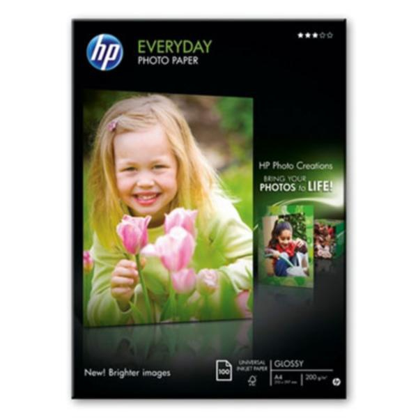 HP Q2510A Everyday Photo Paper, Glossy, A4, 100 listů, 200 g/m2