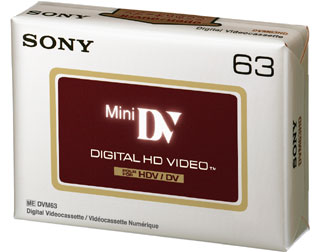 SONY Mini DV kazeta pro HDV kamery, 63 minut