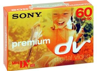 SONY Mini DV kazeta Premium, 60 minut