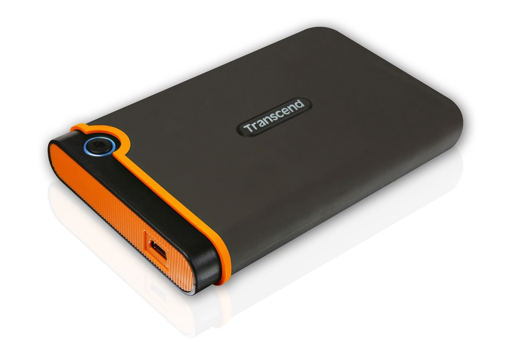 """TRANSCEND 500GB StoreJet 25M2, USB 2.0, 2.5"""" Externí Anti-Shock disk, šedo/oranžový"""