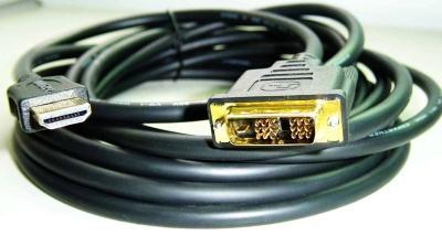 Kabel GEMBIRD HDMI-DVI 1,8m, 1.3, M/M stíněný, zlacené kontakty