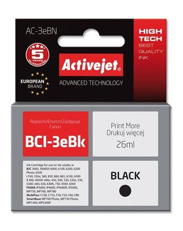 ActiveJet Ink cartridge Canon BCI-3e Bk - 26 ml AC-3eBk