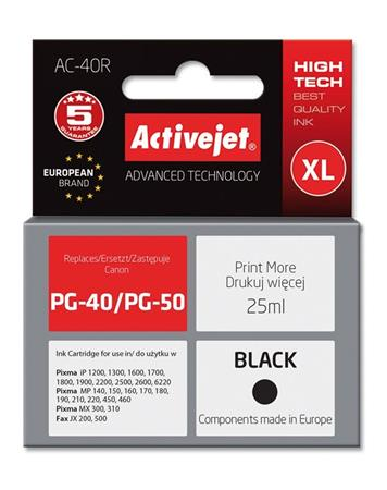 ActiveJet Ink cartridge Canon PG-40 Bk ref. - 25 ml AC-40