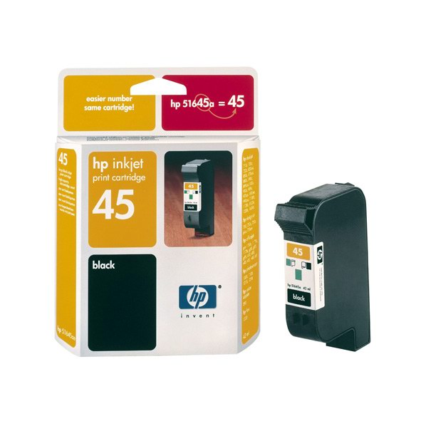 HP 51645AE Ink Cart No. 45 pro DJ7x0,8xx,930,95x,970,990,1x20C, 42ml, Black