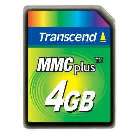 Transcend 4GB High Speed MMC multimedia memory card
