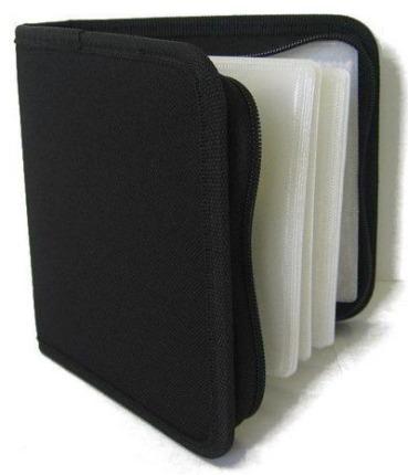 COVER IT Pouzdro na CD/DVD- 24ks, černé