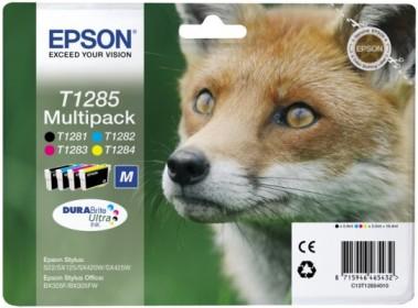 EPSON cartridge T1285 (black/cyan/magenta/yellow) multipack (liška)