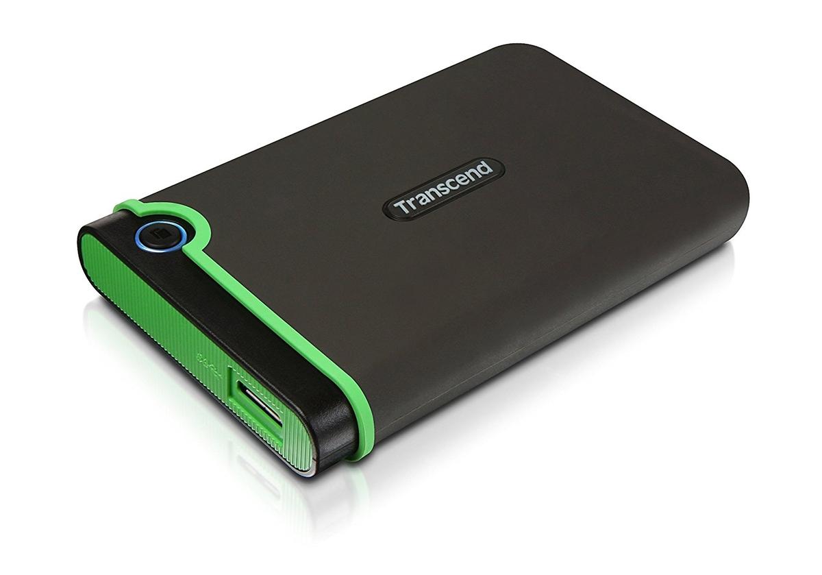 """TRANSCEND 500GB StoreJet 25M3, USB 3.0, 2.5"""" Externí Anti-Shock disk, šedo/zelený"""