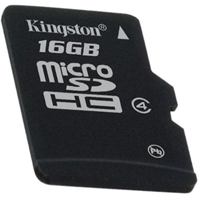 KINGSTON 16GB micro SDHC single pack - bez adaptéru Class 4