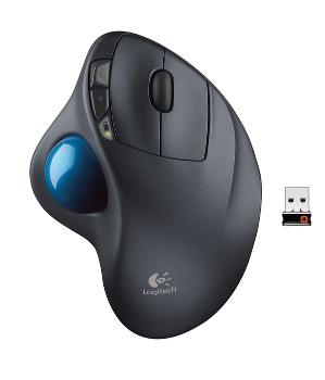 Logitech Trackball Wireless M570, USB, unifying přijímač, optická, 5 tlačítek