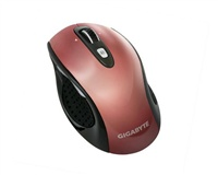 GIGABYTE Myš Mouse M7700, Wireless, Laser, USB mini receiver, 800/1600 dpi, Červená